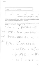 Math 2415 Midterm Version 6 and Solutions