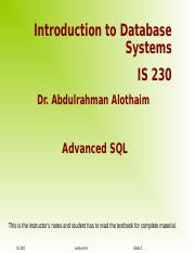 Lecture 7 - SQL II.ppt