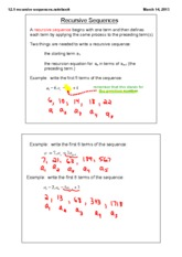recursive sequences notes