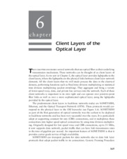 Optical Networks - _Chapter 6 Client Layers of the Optical Layer_73