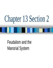 Chapter 13 Section 2 Feudalism in Europe.pptx