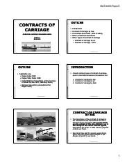 Topic5_Contracts of Carriage