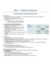 3FA3 – Midterm II Review