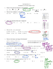 Quad FUNC PractIce Test 2011 Solutions
