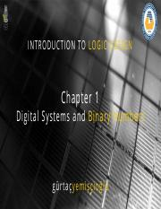 Chapter1 Digital Systems and Binary Numbers