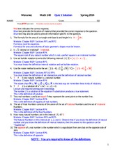 MATH 140 Spring 2014 Quiz 1 Solutions
