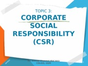 TOPIC 3 - CSR (1st)