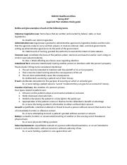 HCR210 Legal Relations Study Guide.docx