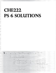 CHE 222 Spring 2014 Problem Set 6 Solutions