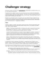 4. Challenger strategy.docx