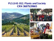 L01. Plants and People in Agriculture