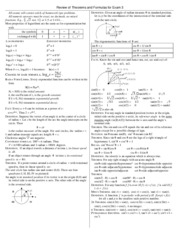 Math 140 Exam 3 Study Guide