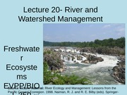 River & Watershed Management
