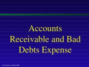 Accounts Receivable and Bad Debts Expense