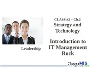 Class 02 - Strategy and Technology