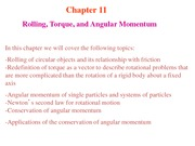 Lecture notes-8 Rolling, Torque, and Angular Momentum