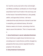 Essay on Whites and Blacks