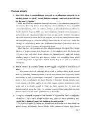 ikea standardization vs adaptation