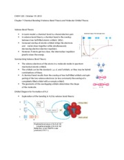 Chapter 7 Chemical Bonding II Valence Bond Theory and Molecular Orbital Theory