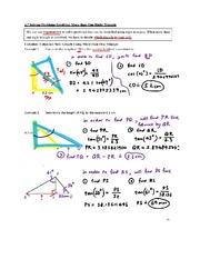2.7 Solving Problems Involving More than One Right Triangle