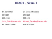 Lecture 1 Notes NEURO 10