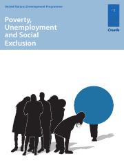 Poverty, Unemployment and Social Exclusion