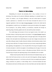 advertisement analysis essay - Kaitlyn Rial A39334900 The Art of ...
