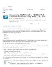 Consuming JSON REST or RESTful Web Service's Response using .pdf