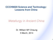 CCCH9020 Lecture 6 metallurgy (2014)