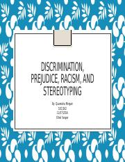 Discrimination, Prejudice, Racism, and Stereotyping