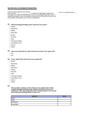 Packaged Drinking Water Questionnaire.xlsx