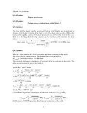Tutorial five solution 2011