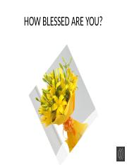 How blessed are you.pptx