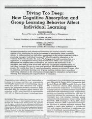 Cognitive Absorption and Group Learning Behavior