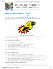 Presentations _ Sales Tips From Jonathan London _ Sales Training _ IPGTraining