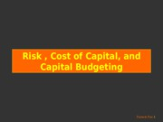 10-8a[1].- Risk, Cost of Capital, and Capital Budgeting