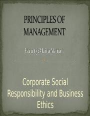 Chapter 3 - CSR and Business Ethics - PRINCIPLES OF MANAGEMENT