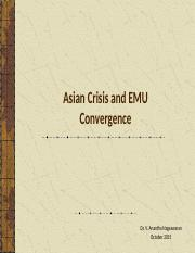 Asian crisis and EMU Convergence.pptx