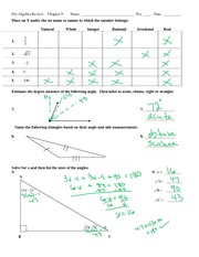Chapter 9 Test Review 2 2013 - key