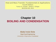 Chapter 10 - Boiling and Condensation