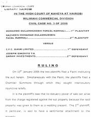 7. MOHAMED GULAMHUSSEIN FARZAL KARMALI AND OTHERS VS C.F.C. BANK LIMITED  - RULING