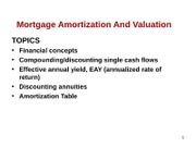 Lecture Notes on Mortgage Supplement