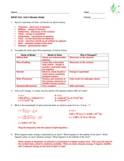 Unit 4 Review Sheet KEY