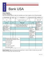 project 1 blank check registry check registry account 00982654