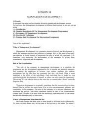 Lesson34ManagementDevelopment