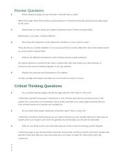 Assignment 0307 Review and Critical Thinking Questions