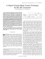 A Digital Current-Mode Control Technique for DC–DC Converters