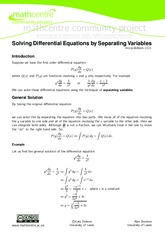 separation of variables exercises 3
