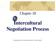 Chapter 10 Intercultural Negotiation Process
