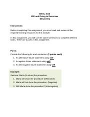 ENGL1010_M5_WILL-AND-GOING-TO-EXERCISES (1) docx - ENGL 1010